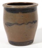 Ovoid Blue Decorated Stoneware Jar