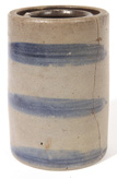 Blue Decorated Stoneware Canning Jar