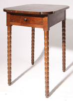 Early Splayed Leg Cherry 1 Drawer Stand