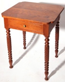 Early Cherry 1 Drawer Rope Leg Stand