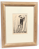Rockwell Kent (NY, MA, ME) Pencil Signed Wood Block