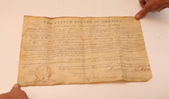 Andrew Jackson Autographed Land Grant
