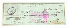 Muhammad Ali Autographed Check