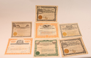 Six Early Stock Certificates