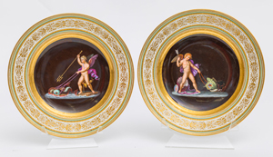 Pair Royal Vienna Plates