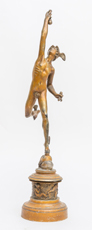Bronzed Sculpture of Mercury