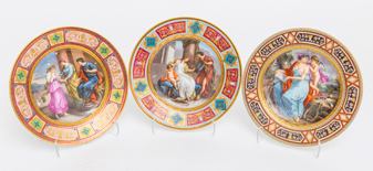Three Royal Vienna Plates