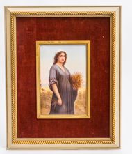 KPM Porcelain Plaque of Ruth