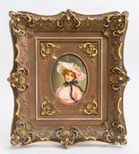 KPM Plaque of Young Lady