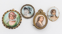 Three Miniatures on Porcelain Plus