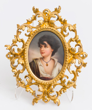 Porcelain Plaque of Scottish Lass