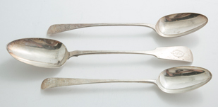 British Sterling Serving Spoons