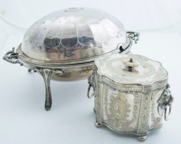 Two Fine Pieces of Silver Plate Holloware