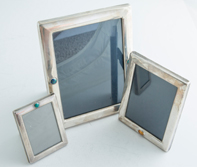 Three Sterling Picture Frames