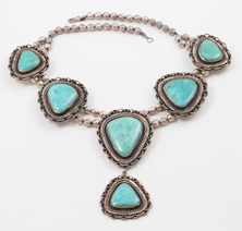 Mary Dayea Navajo Silver & Turquoise Necklace