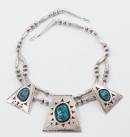 Navajo Turquoises & Sterling Necklace