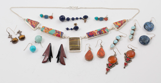 Ten Pieces Native Silver Jewelry