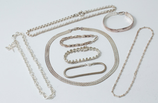 Eight Pieces Sterling Jewelry