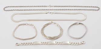 Six Pieces Sterling Jewelry