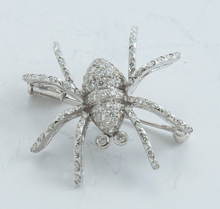 Gold & Diamond Spider Broach