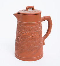 Japanese Tokoname Covered Pitcher