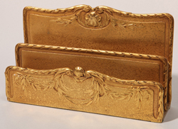 L.C. Tiffany Bronze Gold Dore Letter Holder