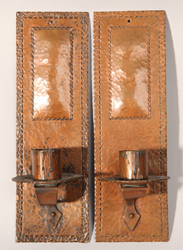 Karl Kipp/Roycroft Copper Wall Sconces