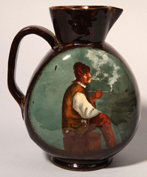 E. Galle Pottery Pitcher