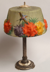 Pairpoint Puffy Table Lamp with Hummingbird