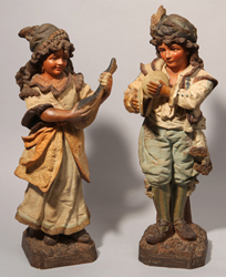 Pair Terracotta Figures
