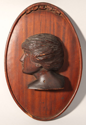Folk Art Carved Wooden Bust
