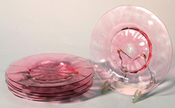 Libby Art Glass Plates
