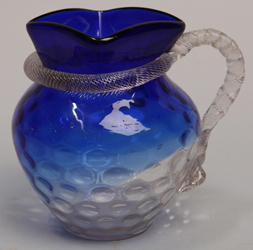 Victorian Art Glass Pitcher