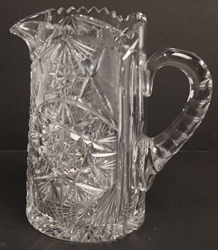 Brilliant Period American Cut Glass Pitcher