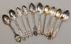 Ten Sterling Souvenir Spoons