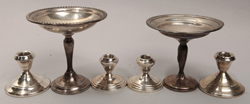 Weighted Sterling Sticks & Tazza
