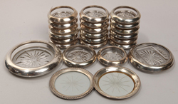 24 Pcs Sterling Coasters