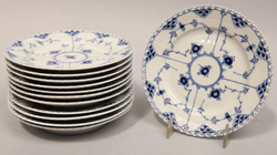 Royal Copenhagen Blue Fluted Open Lace Plates