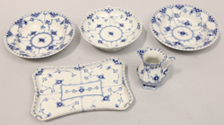 Royal Copenhagen Blue Fluted Open Lace Pcs.