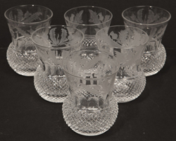 Edinburgh Cut Whiskey Glasses