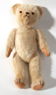White Straw Filled Jointed Teddy Bear