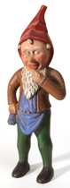 Great Folk Art Carving of A Gnome