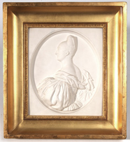 Framed Plaster Relief of Noble Lady
