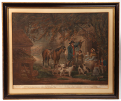 Fine 1795 British Hunting Lithograph