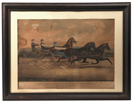 Large Folio Currier & Ives Horse Racing Print