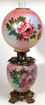 Nice Victorian Gone With The Wind Parlor Oil Lamp