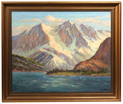 Frederick Carl Smith Oil Painting of Sierra Lake