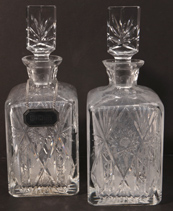 Two Cut Whiskey Decanters
