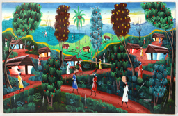 Pierre Henry (1924- ) Haitian Oil Painting