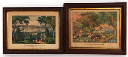 MEDIUM FOLIO CURRIER & IVES PRINTS